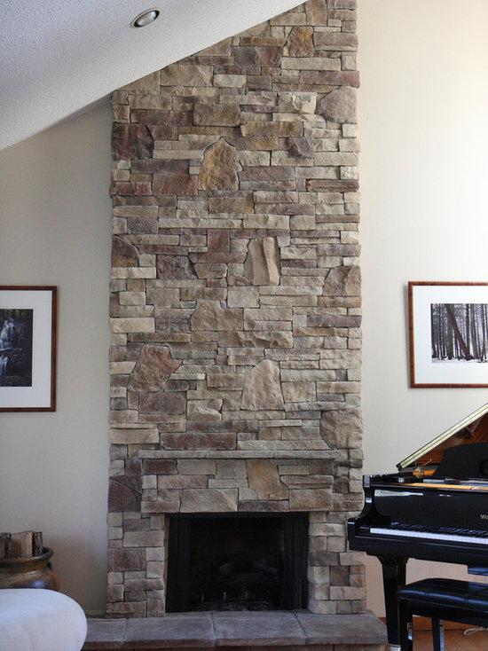 Stone Fireplaces Before After