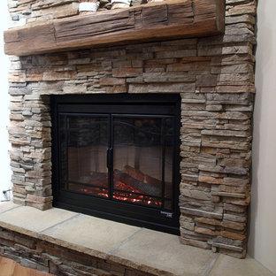 Stone veneer fireplace houzz - Stone veneer fireplace ideas ...
