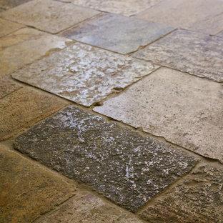 Stone Floor – Antique, Reclaimed Limestone 'Dalle de Bourgogne' pavers
