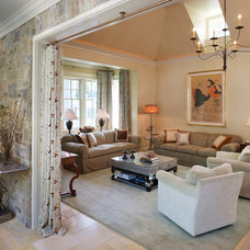 Traditional Living Room by Barnes Vanze Architects, Inc