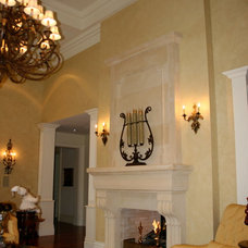 Traditional Living Room by Parsiena Design Mantels & Architectural Elements