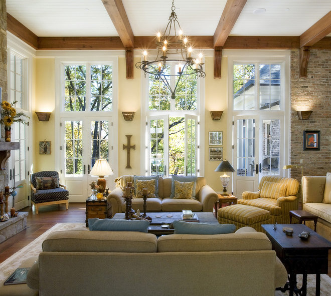 Traditional Living Room by Norris Architecture