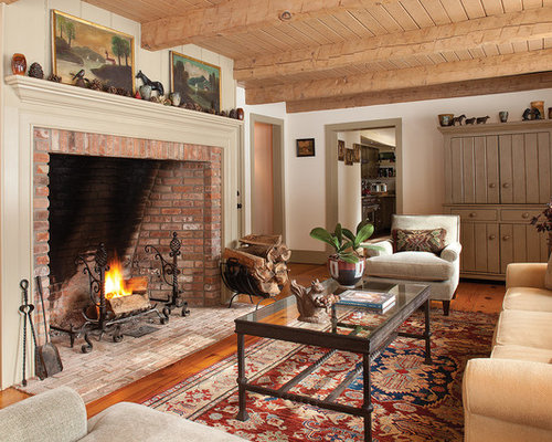 Tall Brick Fireplace Home Design Ideas Pictures Remodel