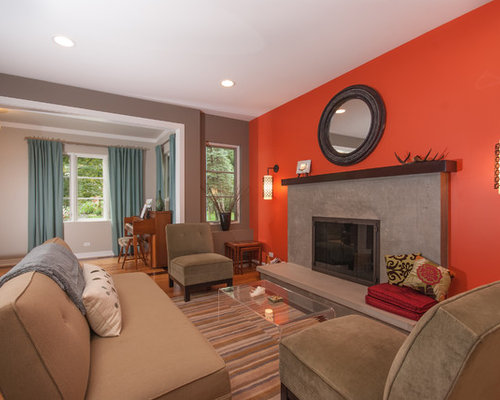 Orange Walls Ideas Pictures Remodel and Decor – Orange Living Room Walls