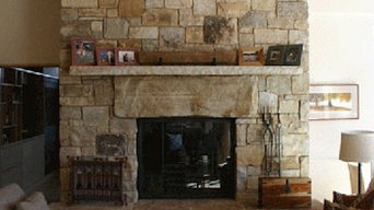 Stone Two-Sided fireplace