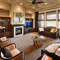 Contemporary Living Room by Brighton Homes Idaho Inc.