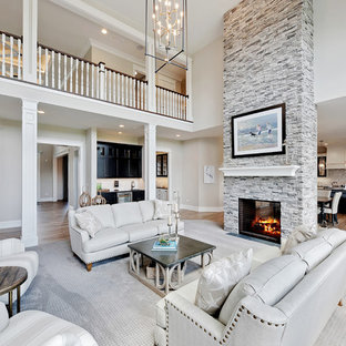 75 Beautiful Coastal Living Room With Gray Walls Pictures Ideas