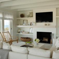 Beach Style Living Room by Martha's Vineyard Interior Design