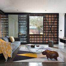 Geometric Rugs Give Rooms an Edge