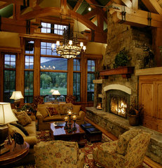 traditional living room by Paddle Creek Design