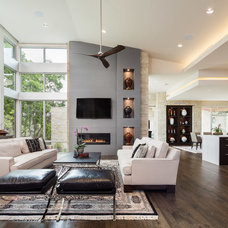 Contemporary Living Room by Eppright Custom Homes