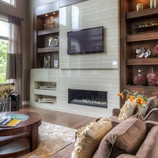 Contemporary Living Room by Core Concepts Cabinets & Design