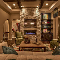 Transitional Living Room by Falcone Homes