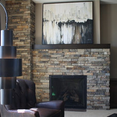 Traditional Living Room by Fireplace Stone & Patio