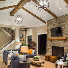 Transitional Living Room by Alan Mascord Design Associates Inc