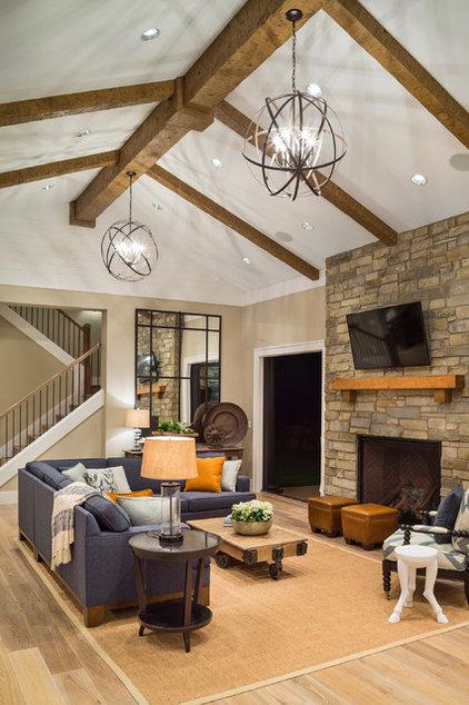 Transitional Living Room by Alan Mascord Design Associates Inc