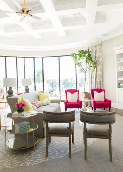 Transitional Living Room by Luxe Pros