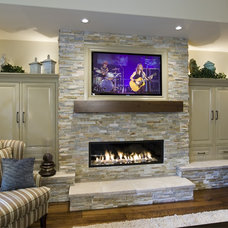 Traditional Living Room by Rockwood Cabinetry
