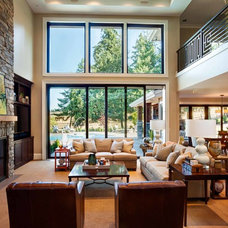 Contemporary Living Room by Garrison Hullinger Interior Design Inc.