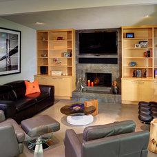 Contemporary Living Room by Unique Techniques