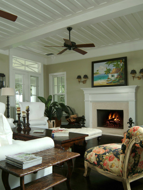 tropical living room design ideas renovations photos with a wood