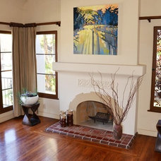 mediterranean living room by Custom Masonry & Fireplace Design Inc