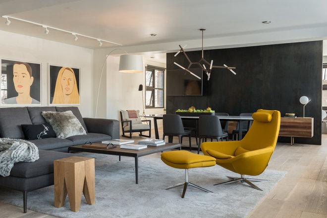 Contemporain Salon by Carney Logan Burke Architects