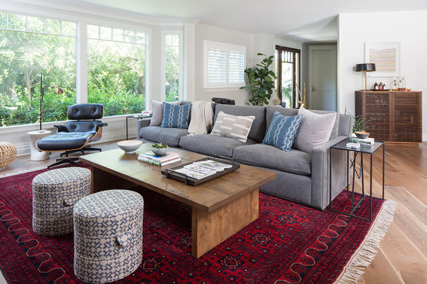 Transitional Living Room by Kelly Martin Interiors