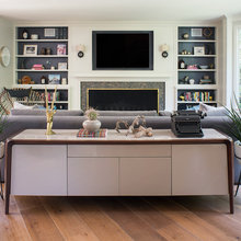A New Living Room Blends Midcentury and Traditional Design