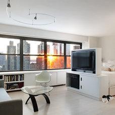 Contemporary Living Room by Prestige Custom Building & Construction, Inc.