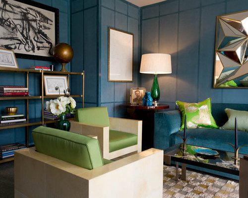 Turquoise And Lime Green Living Room Design Ideas Renovations Photos
