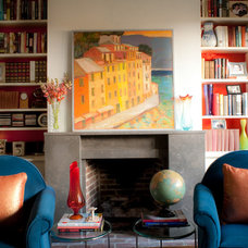 Eclectic Living Room Study