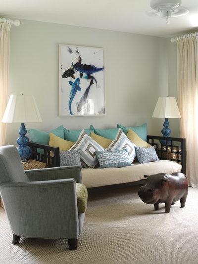 Beach Style Living Room by Tara Seawright Interior Design