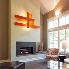 Contemporary Living Room by Knight Architects LLC