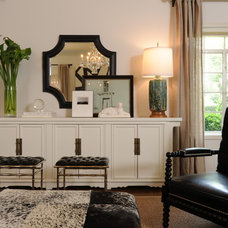 Transitional Living Room by Kenneth Brown Design