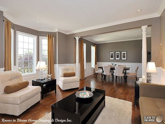 Contemporary Living Room by Rooms in Bloom Home Staging & Design Inc.