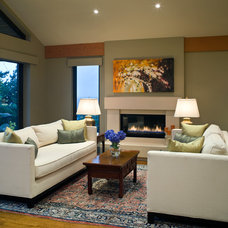 Contemporary Living Room by Wallmark Custom Homes