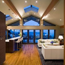 Contemporary Living Room by Wallmark Custom Homes