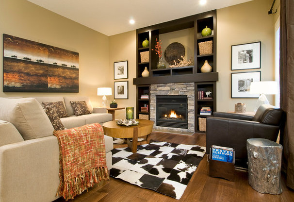 Eclectic Living Room by Sabal Homes