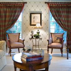 Traditional Living Room by Diane Burgoyne Interiors