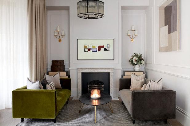 Transitional Living Room by Jemimah Barnett
