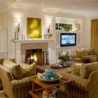 Living Room acadia white Design Ideas, Pictures, Remodel and Decor