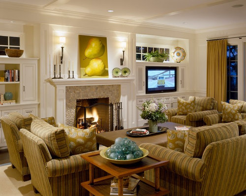Benjamin moore acadia white home design ideas pictures - Living room layout fireplace and tv ...