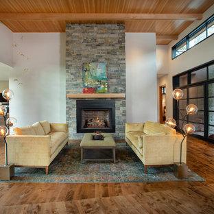 Off Center Fireplace Living Room Ideas Photos Houzz
