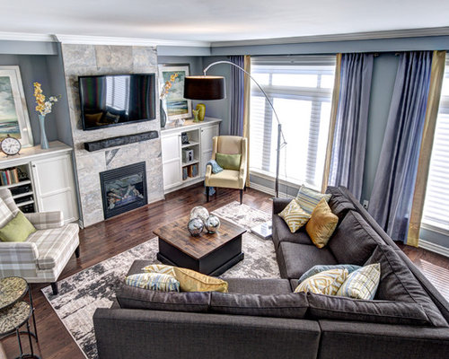 Gray sectional home design ideas pictures remodel and decor for Laura boisvert design