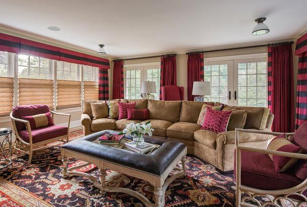 Traditional Living Room by B Fein Interiors LLC