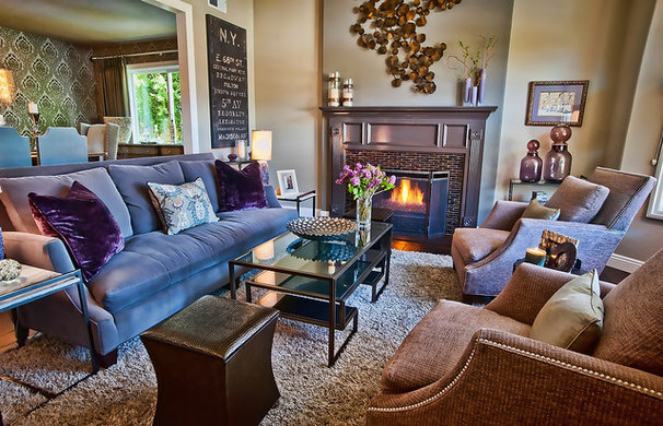 Eclectic Living Room by Jill Wolff Interior Design