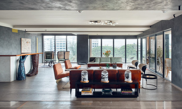 Eclectic Living Room by MEISTER MEISTER