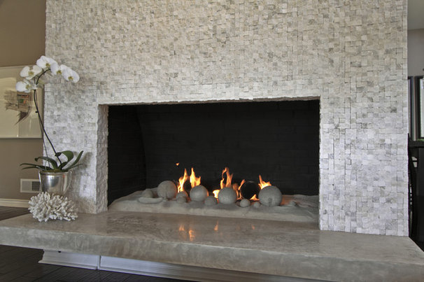 Contemporary Living Room by WalkOn Tile