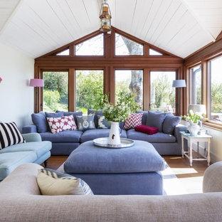 Design ideas for a nautical living room in Dorset.